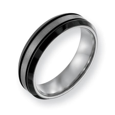 Titanium Black Plated 8mm Band