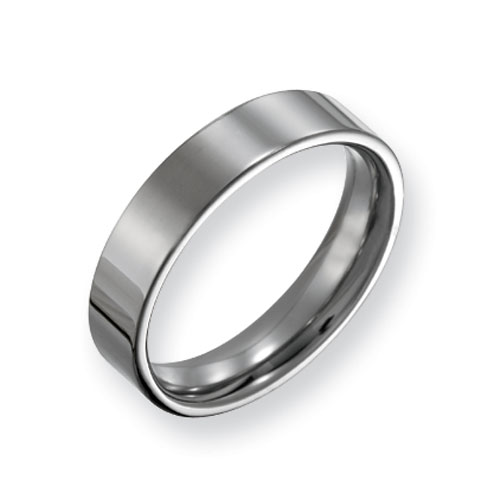 Titanium 5mm Flat Wedding Band