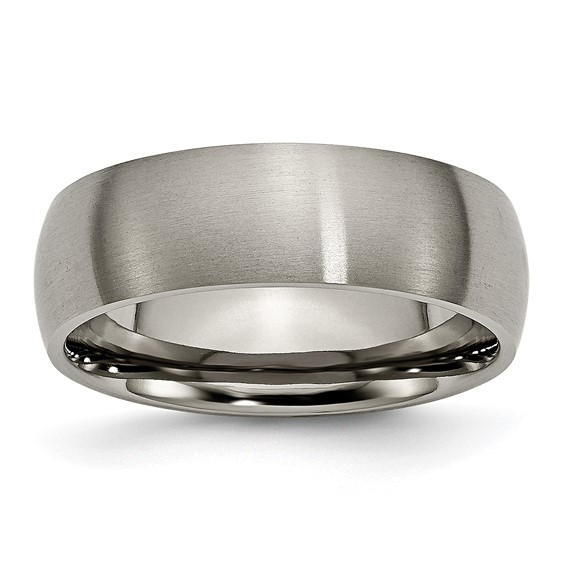 Titanium 7mm Brushed Wedding Band