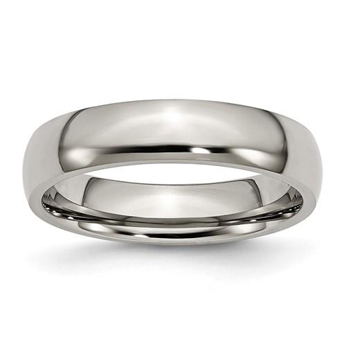 Titanium 5mm Domed Wedding Band