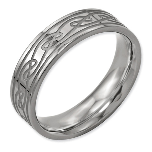 Titanium 6mm Celtic Knot Wedding Band