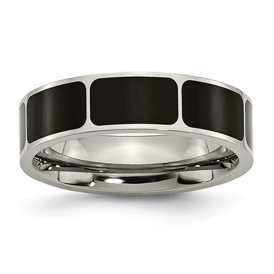Titanium Black Enamel 6mm Band
