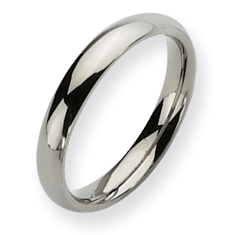 Titanium 4mm Polished Domed Wedding Band