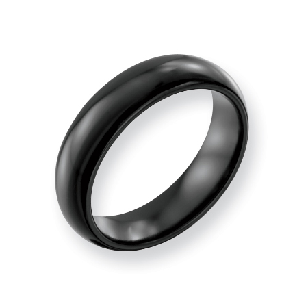 Black Titanium 6mm Wedding Band