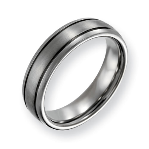 6mm Titanium Band with Grooves