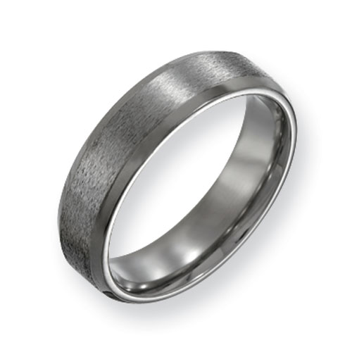 Titanium 6mm Satin Wedding Band with Beveled Edges