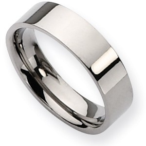 Titanium Flat 6mm Wedding Band