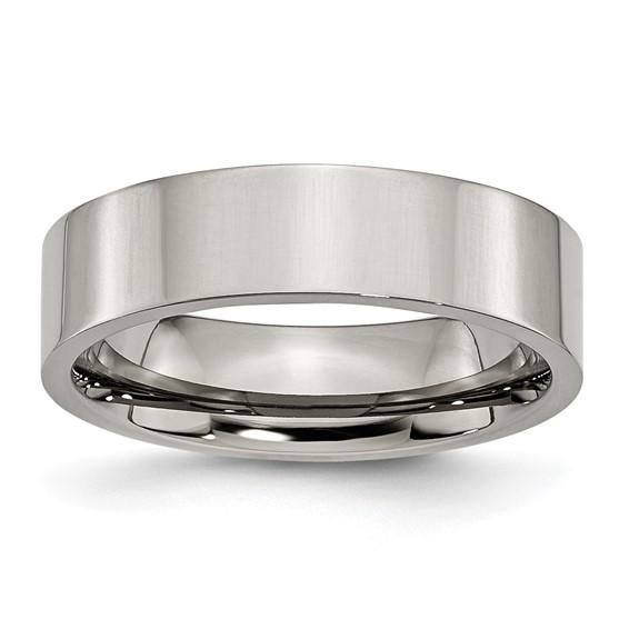 Titanium Flat 6mm Wedding Band