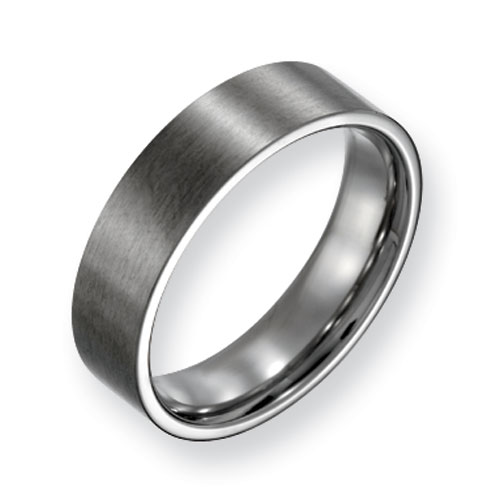 Titanium 6mm Flat Brushed Wedding Band