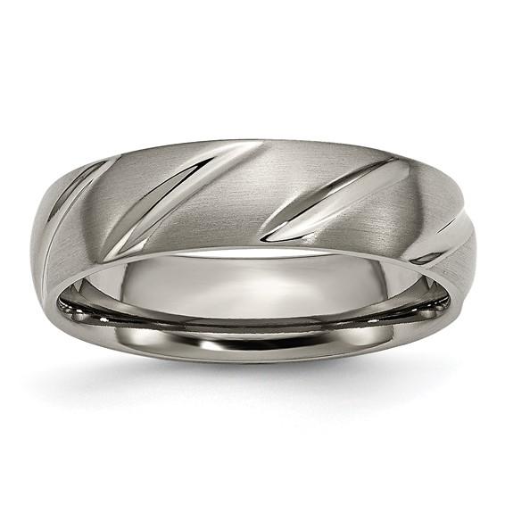 6mm Titanium Ring with Swirl Design