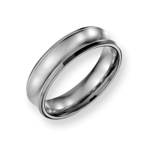 Titanium Concave 6mm Band