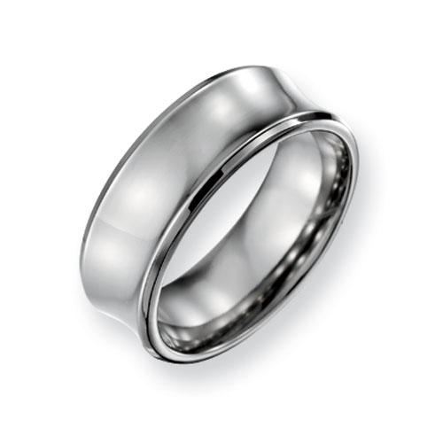 Titanium Concave 8mm Wedding Band