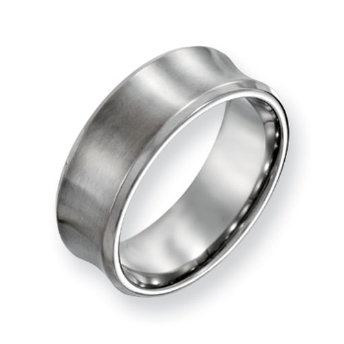 Titanium Concave 8mm Brushed Wedding Band