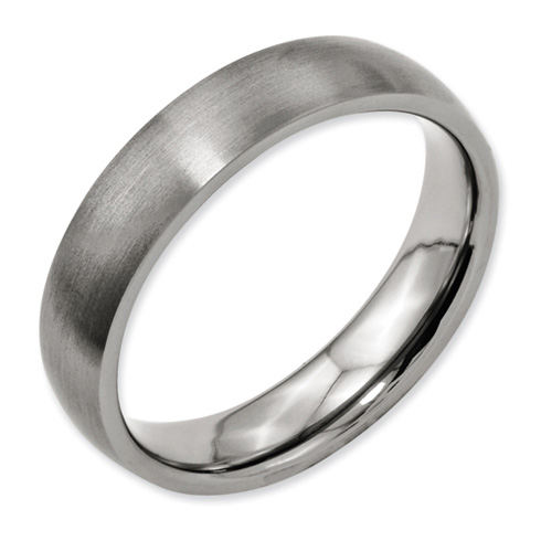 Titanium 5mm Brushed Wedding Band