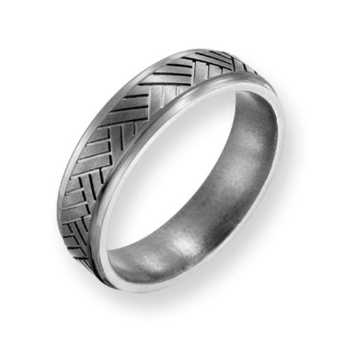 Titanium Basket Weave Design 6mm Band