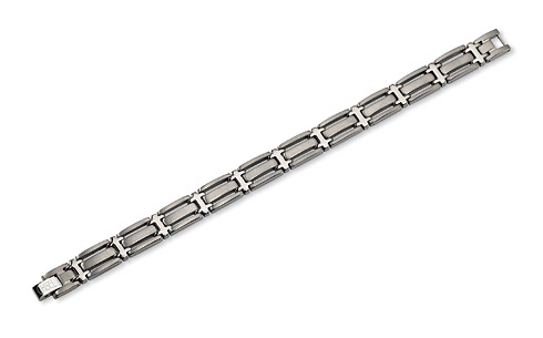 Titanium Brushed and Polished Bracelet 8.75in