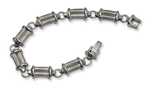 Titanium 9in Brushed & Polished Bracelet