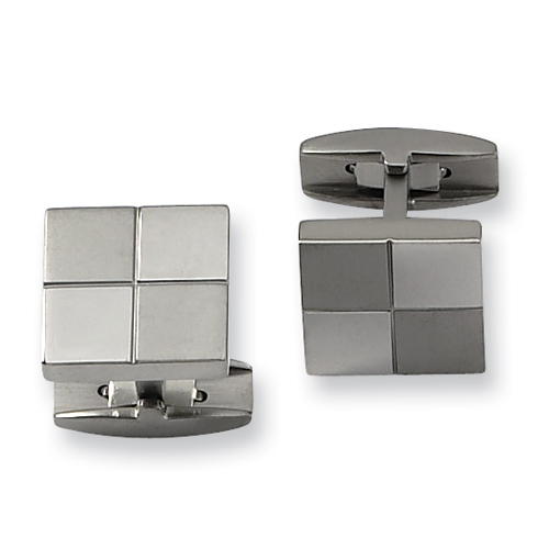 Titanium Checkerboard Cufflinks
