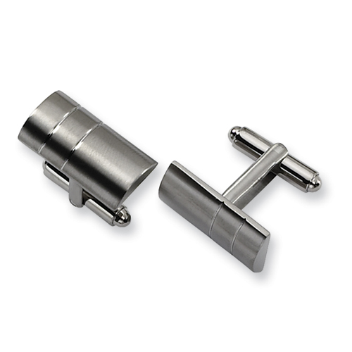 Titanium Barrel Shaped Cufflinks
