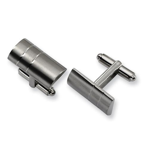 Titanium Barrel Shaped Cufflinks