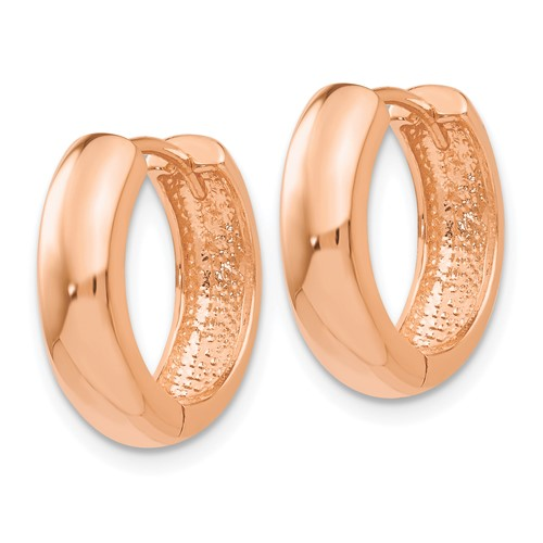 14kt Rose Gold 5/8in Huggie Earrings 5mm