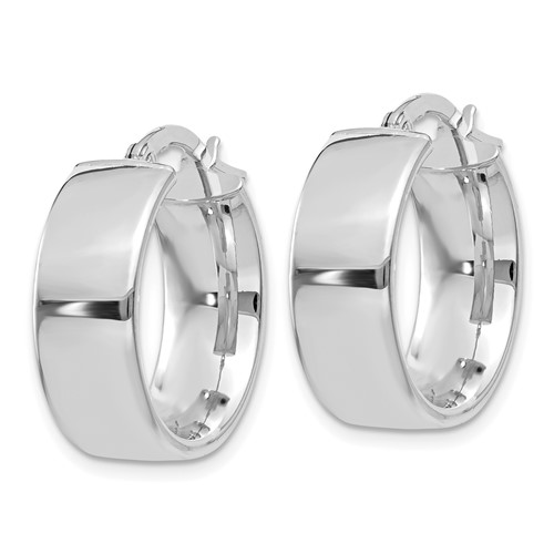 14kt White Gold 5/8in Huggie Earrings 6.75mm