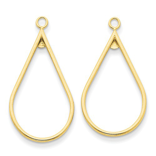 14kt Yellow Gold 1 1/4in Teardrop Earring Jackets