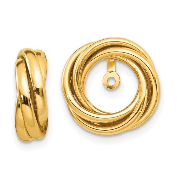 14kt Yellow Gold Love Knot Earring Jackets