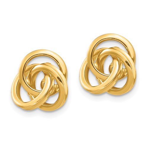 14kt Yellow Gold Knot Earring Jackets