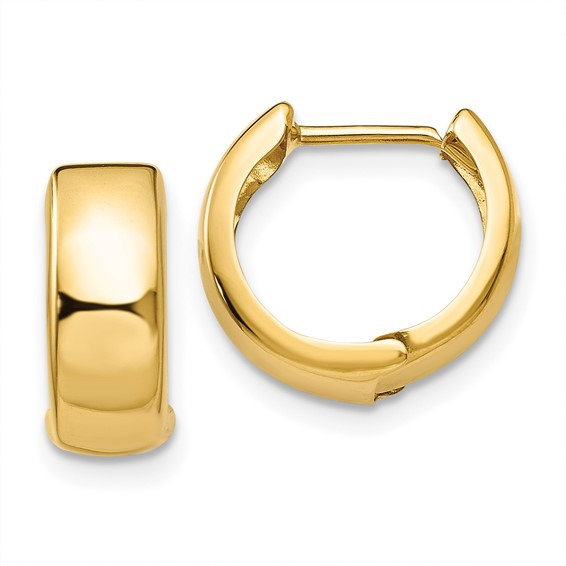 14kt Yellow Gold 1/2in Huggie Earrings 5mm