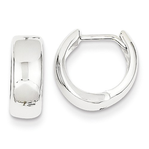 14kt White Gold 1 2in Huggie Earrings 5mm