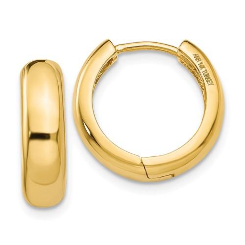 14kt Yellow Gold 5/8in Huggie Earrings 5mm