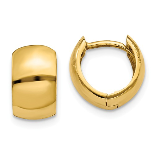 14kt Yellow Gold 3/8in Huggie Hoop Earrings