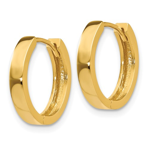 14kt Yellow Gold 1/2in Hinged Hoop Earrings 3mm