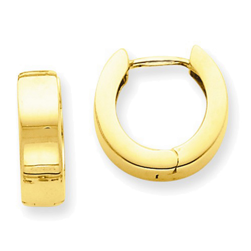 14kt Yellow Gold 1/2in Hinged Hoop Earrings 4.5mm