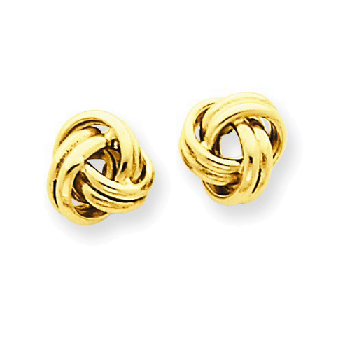 14kt Yellow Gold Mini Double Love Knot Earrings