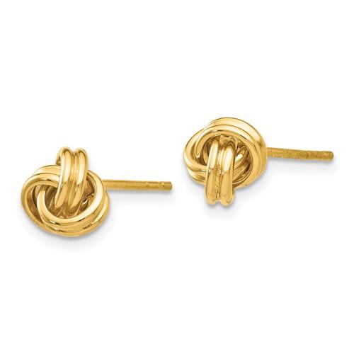 14kt Yellow Gold Mini Double Love Knot Earrings