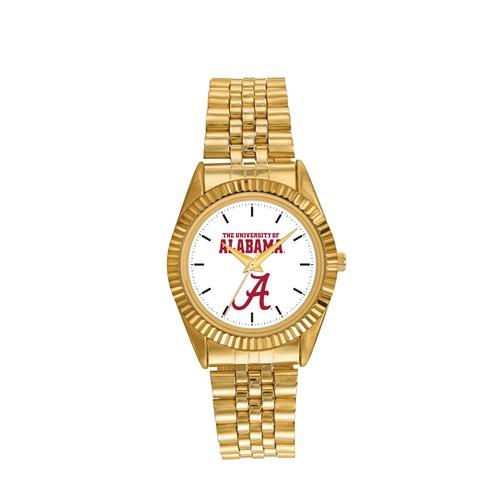 University of Alabama Men's Pro Gold-tone Stainless Steel Watch