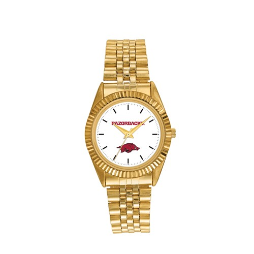 University of Arkansas Men's Pro Gold-tone Stainless Steel Watch