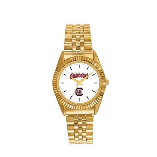 University of South Carolina Men's Pro Gold-tone Stainless Steel Watch