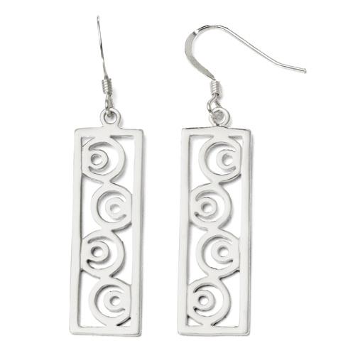 Sterling Silver Crescent Moon Earrings