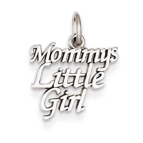 14kt White Gold Mommy's Little Girl Charm