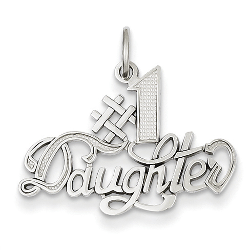 14kt White Gold #1 Daughter Charm