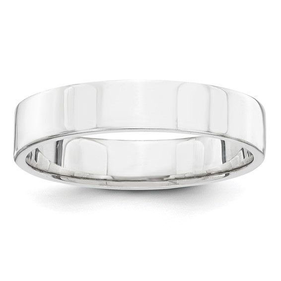 14kt White Gold 4mm Flat Wedding Band