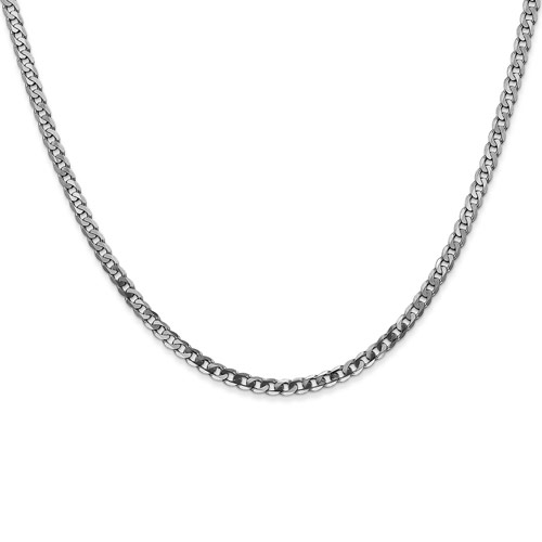 14kt White Gold 20in Flat Curb Chain 2.9mm