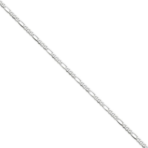 14kt White Gold 24in Flat Figaro Chain 4.0mm