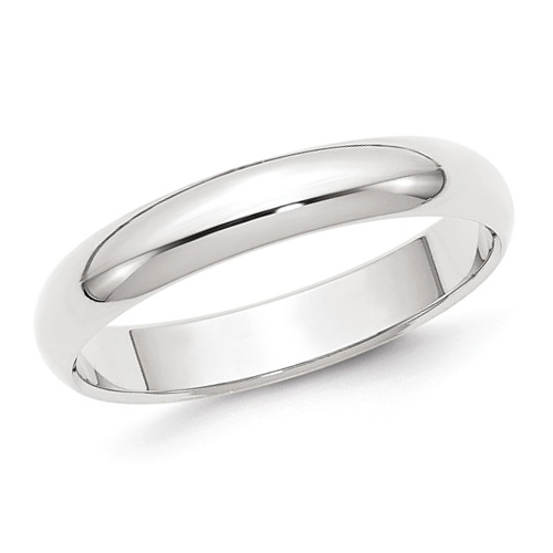 14kt White Gold 4mm Polished Wedding Band