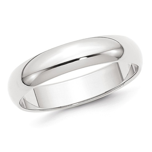 14kt White Gold 5mm Classic Light Wedding Band