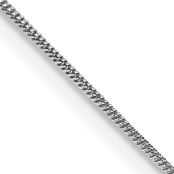 14kt White Gold 20in Round Snake Chain .65mm