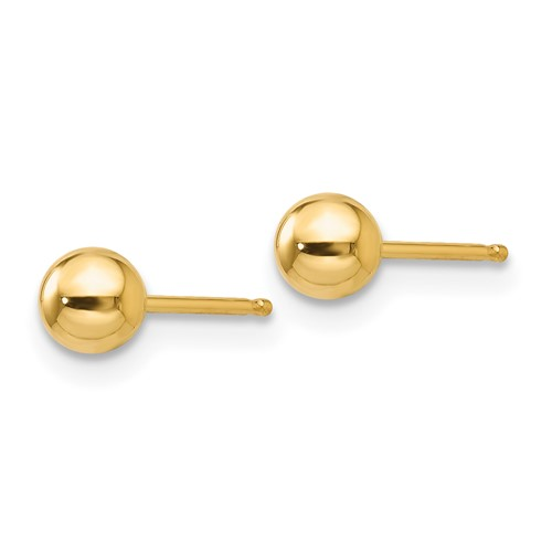 14kt Yellow Gold 4mm Ball Post Earrings